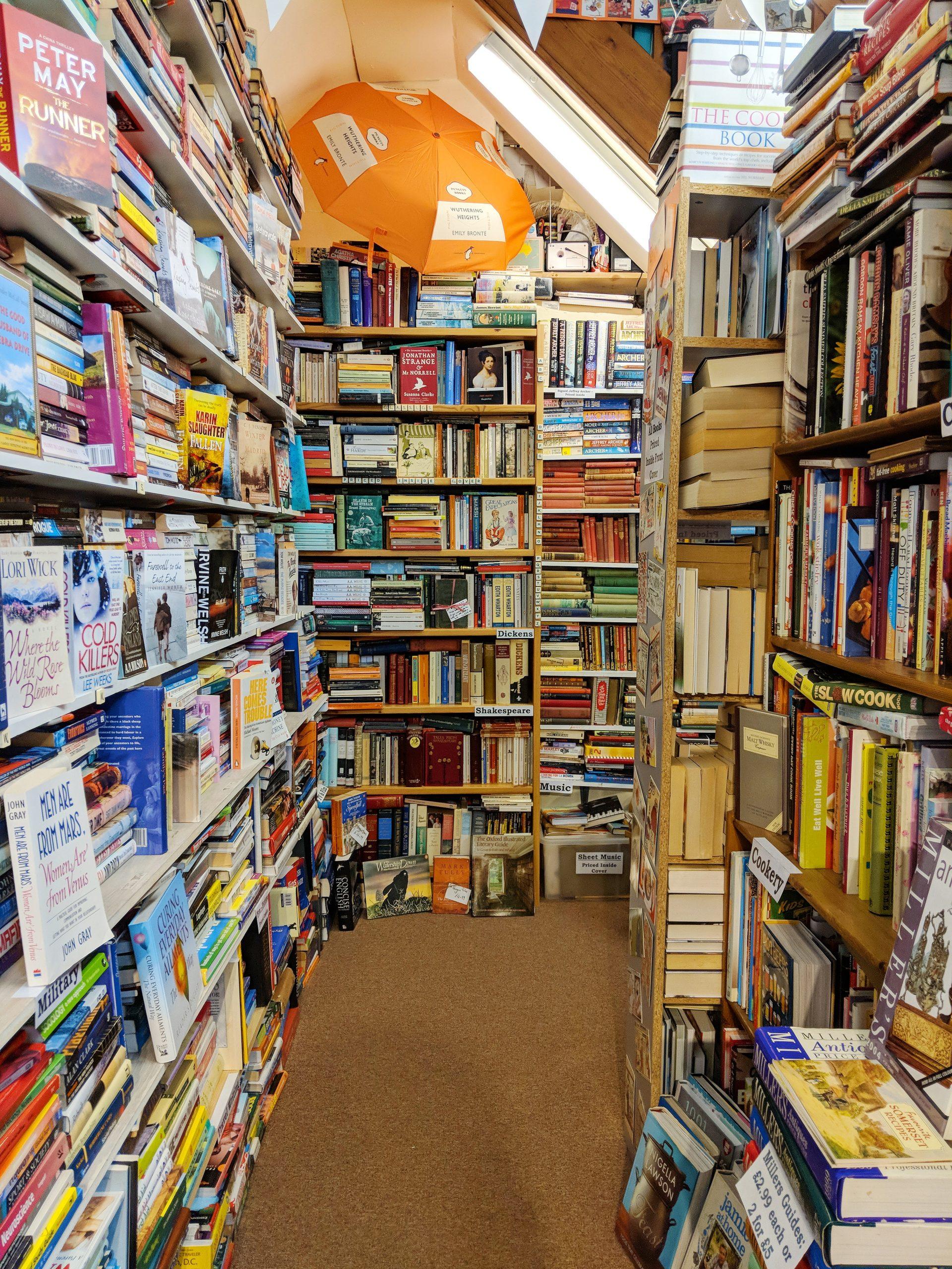 secondhand classic books for sale in the ironbridge bookshop