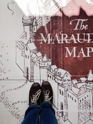 Standing on giant Marauder's Map