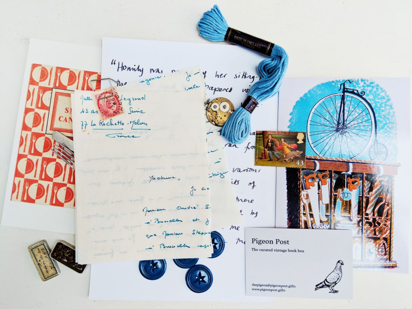 pigeon post gifts book box contents