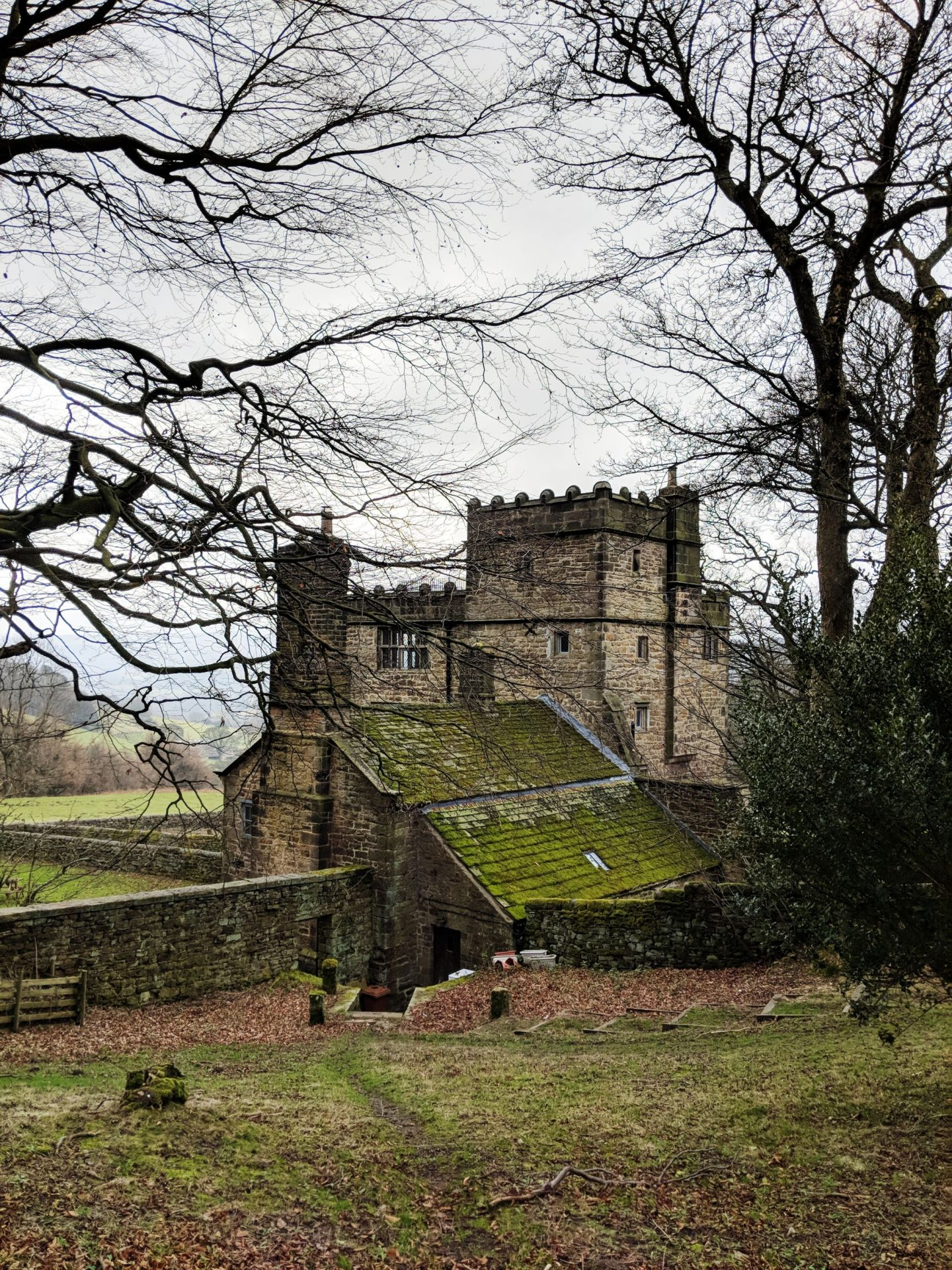 the side aspect of North Lees Hall - Jane Eyre Trail