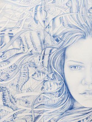 The Blue Salt Road Endpapers Bonnie Helen Hawkins