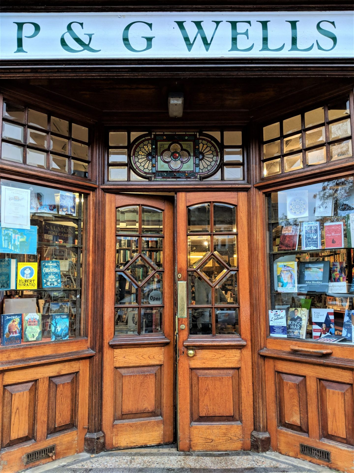 P&G Wells Bookshop Window