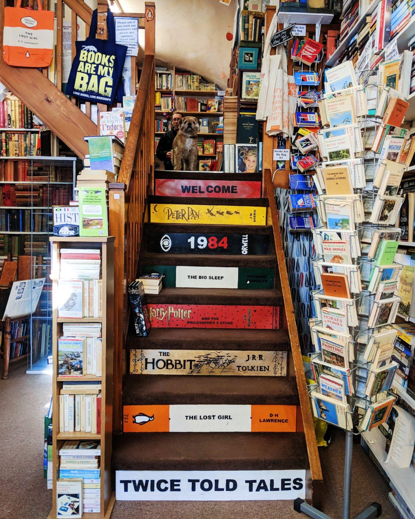 The Ironbridge Bookshop Staircase