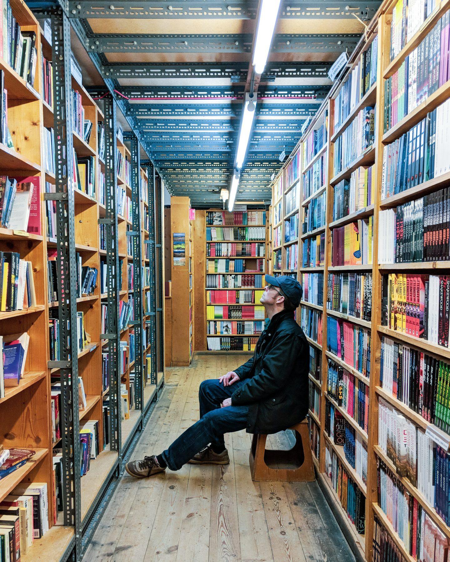 Browsing Hay Cinema Bookstore