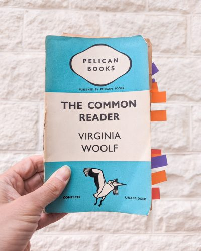 A Pelican book cover of The Common Reader Volume 1 by Virginia Woolf
