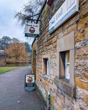 A side view of the exterior of Book End Second-Hand Bookshop Bakewell
