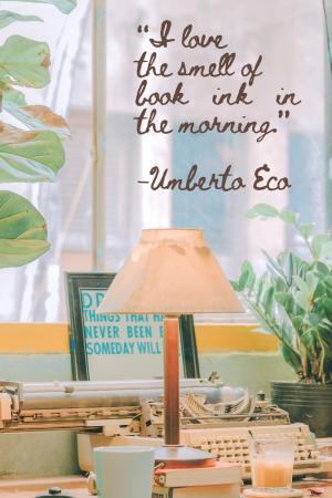 Umberto Eco bookish quote