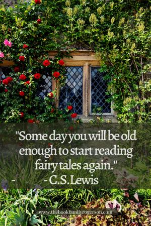 Fairytale window with CS Lewis quote