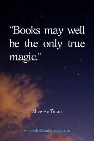 Books may well be the only true magic words on a night sky