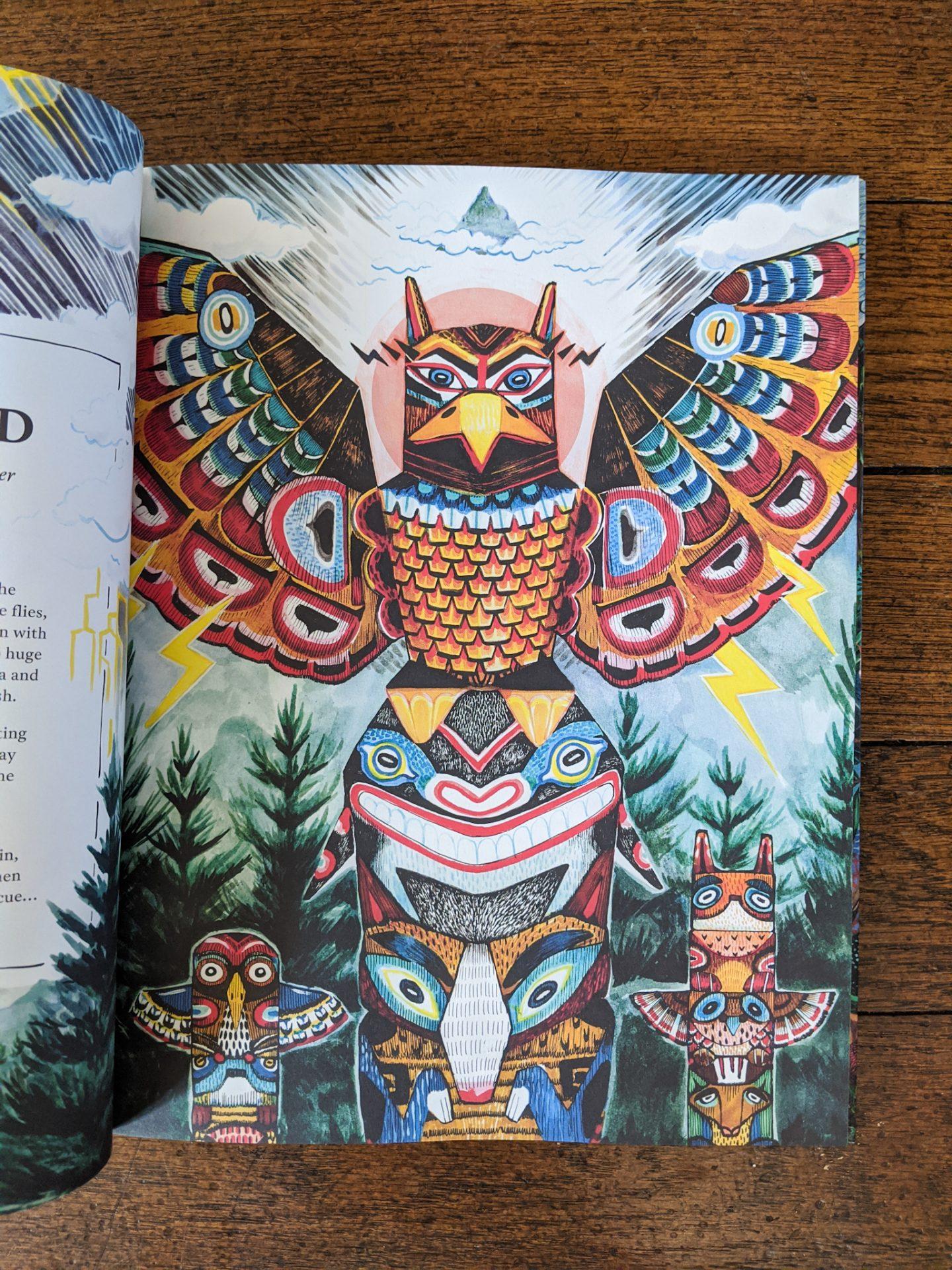 An illustration of a Thunderbird in Mythopedia