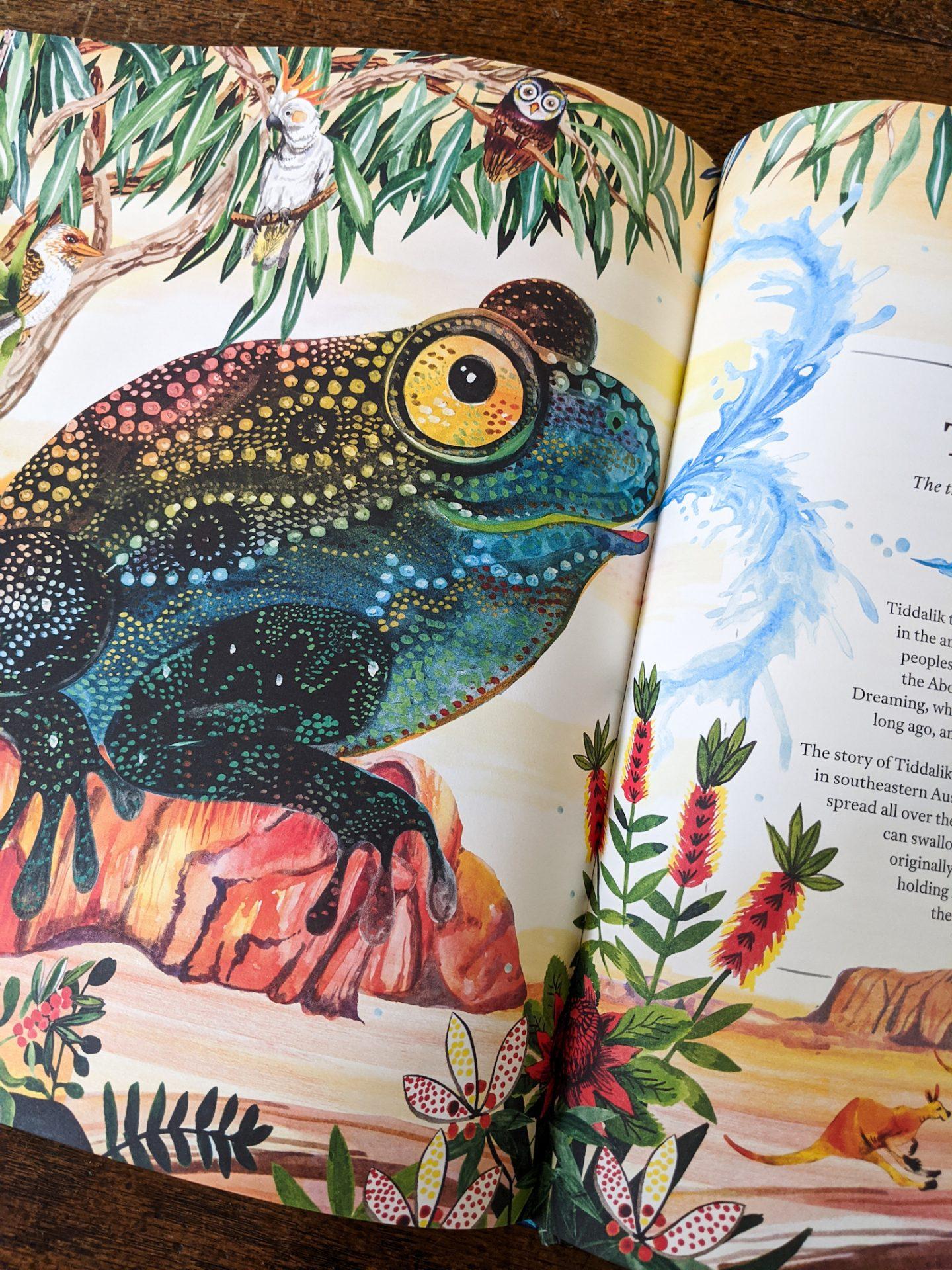 Mythopedia: An illustration of a Tiddalik (a frog)