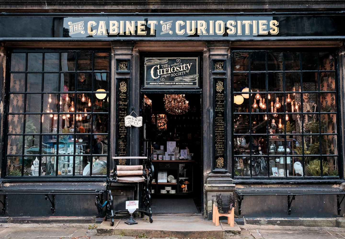 The Cabinet of Curiosities in Haworth - a stop on a day trip to Brontë Country and included in The BFR Round Up - September 2020