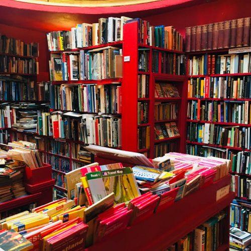 Bookshelves at Slightly Foxed Bookshop Berwick-upon-Tweed